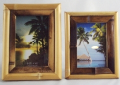 Two Color Bamboo Photo Frames