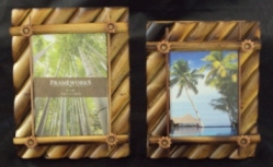 Flower Bamboo Photo Frames