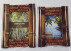Rope & Bamboo Photo Frames