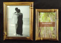 Simple, Inexpensive Bamboo Photo Frames