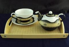 Bamboo Wicker Tea Set