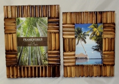 Spliced Bamboo Cane Photo Frames