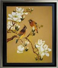 Cardinals and Magnolias Sand Mosaic