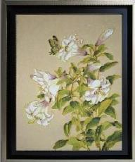 Asian Lily Cloisonne Painting
