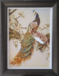 Peacock and Peahen Cloisonne Painting