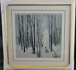 Snowy Forest Embroidered Picture