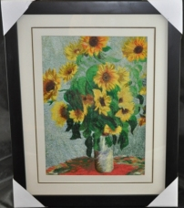 Framed Sunflowers Embroidery